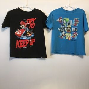 Other - 2 Mario Brothers Shirts, Black and Blue